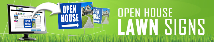 Open House Lawn Signs | LawnSigns.com
