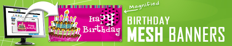 Birthday Mesh Banners | LawnSigns.com