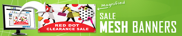 Sale Mesh Banners | LawnSigns.com