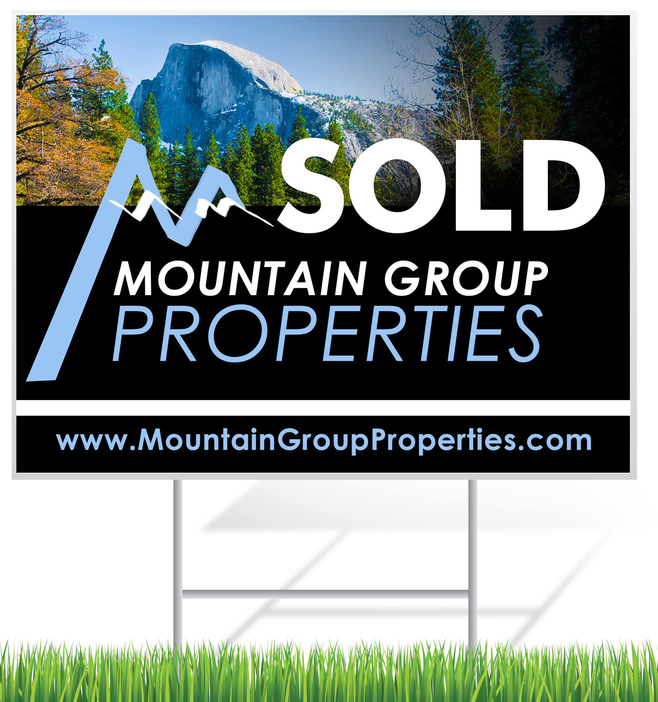 Sold Lawn Sign Example | LawnSigns.com