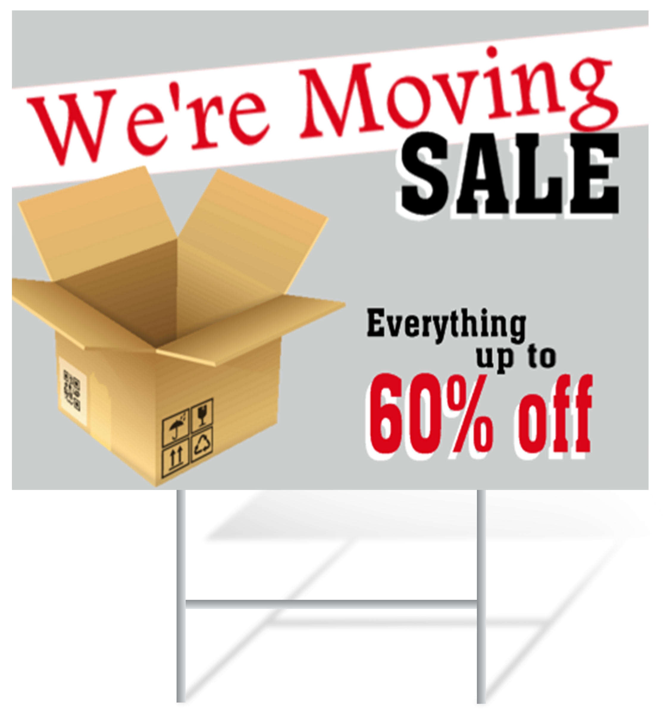 Moving Sale Lawn Sign Example | LawnSigns.com
