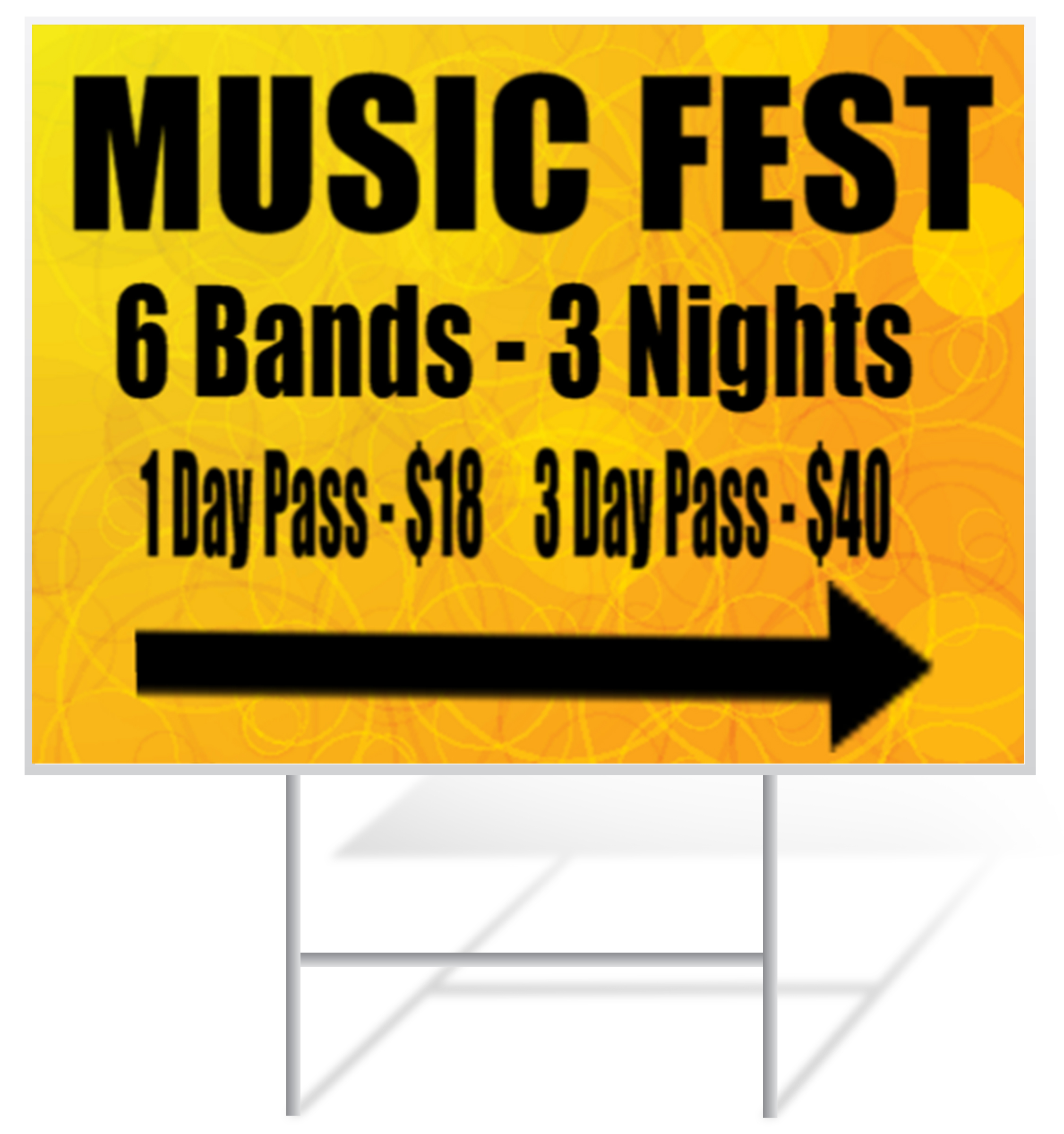 Concert Lawn Sign Example | LawnSigns.com