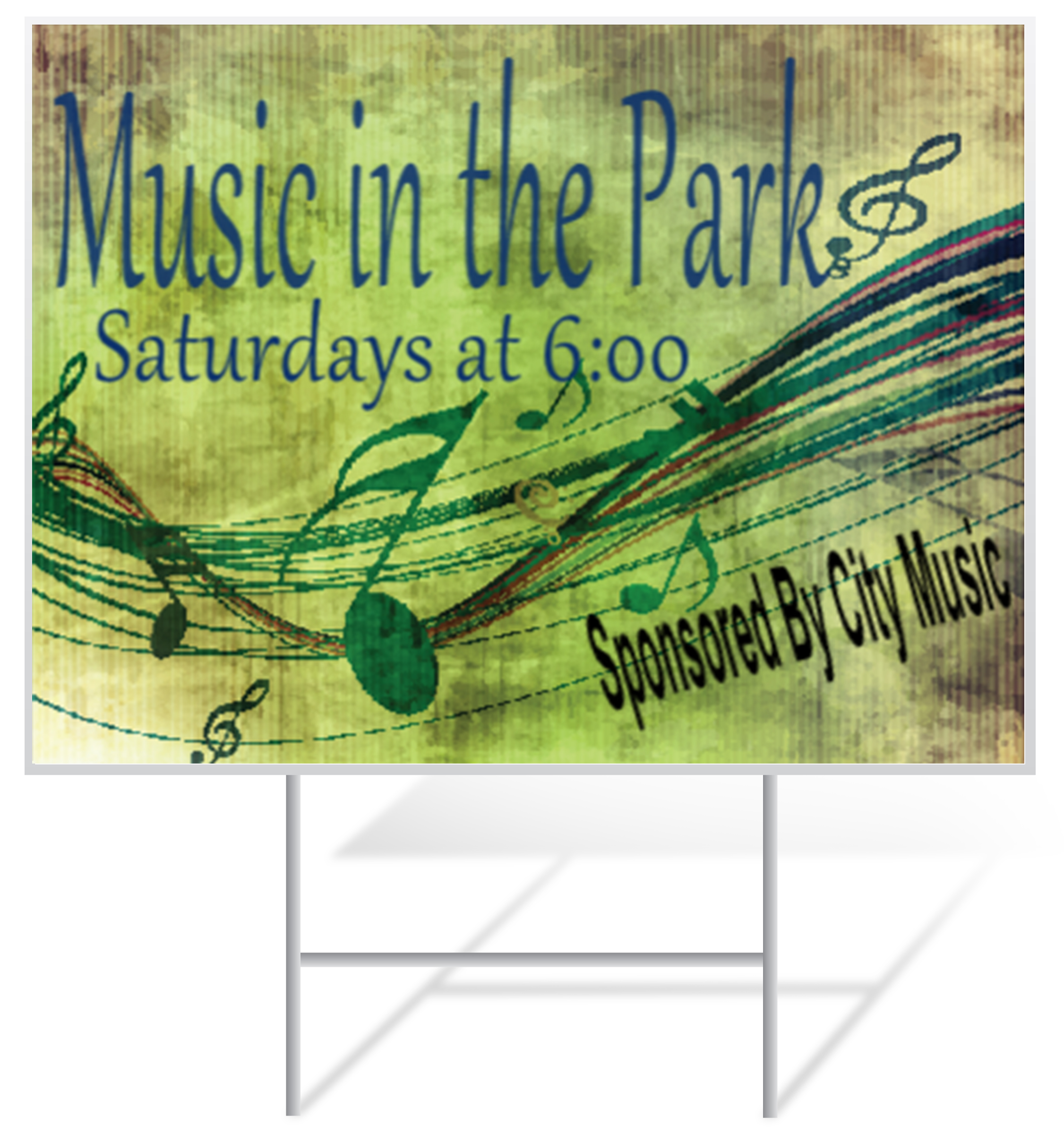 Music Lawn Sign Example | LawnSigns.com