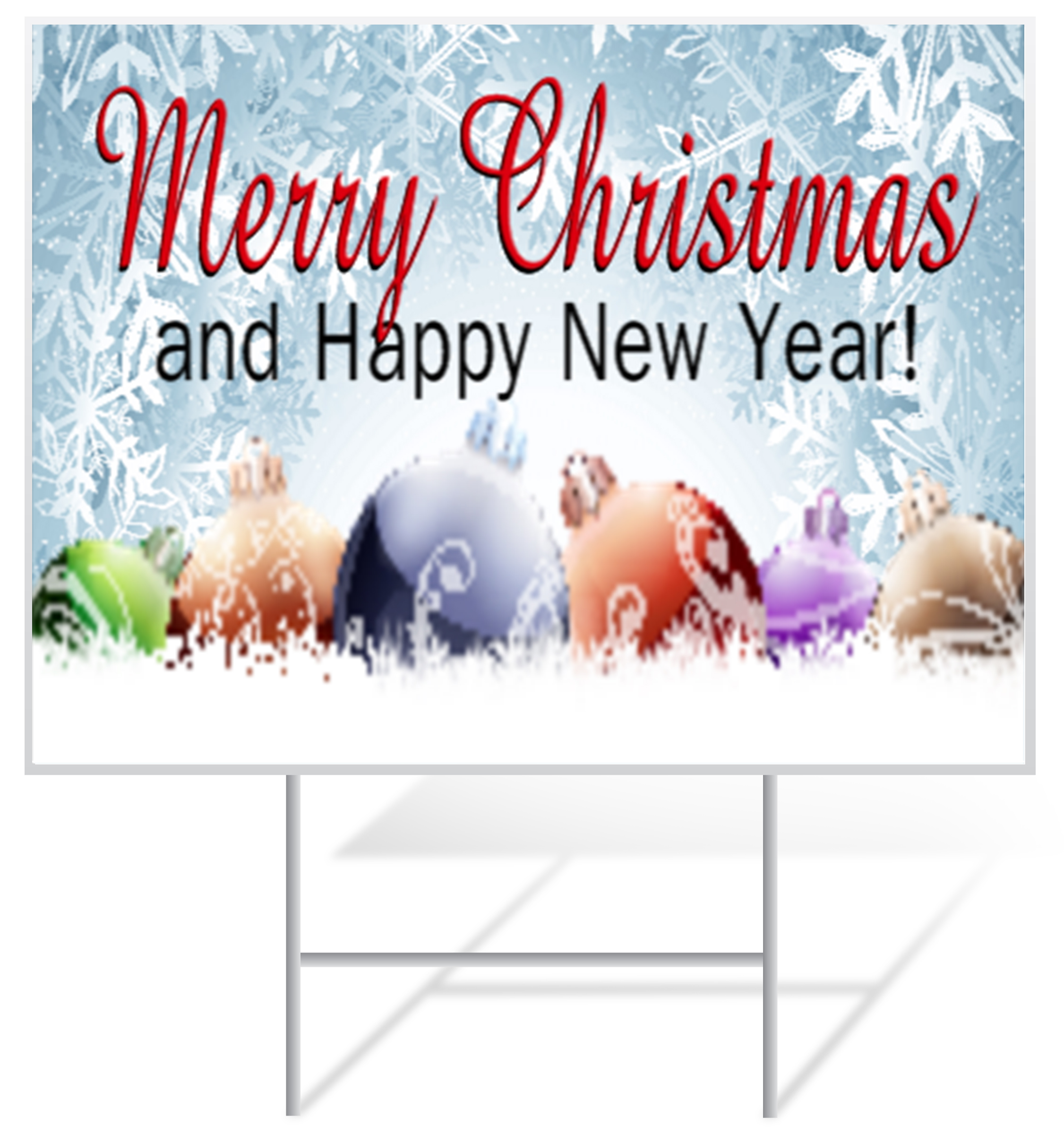 New Years Lawn Sign Example | LawnSigns.com