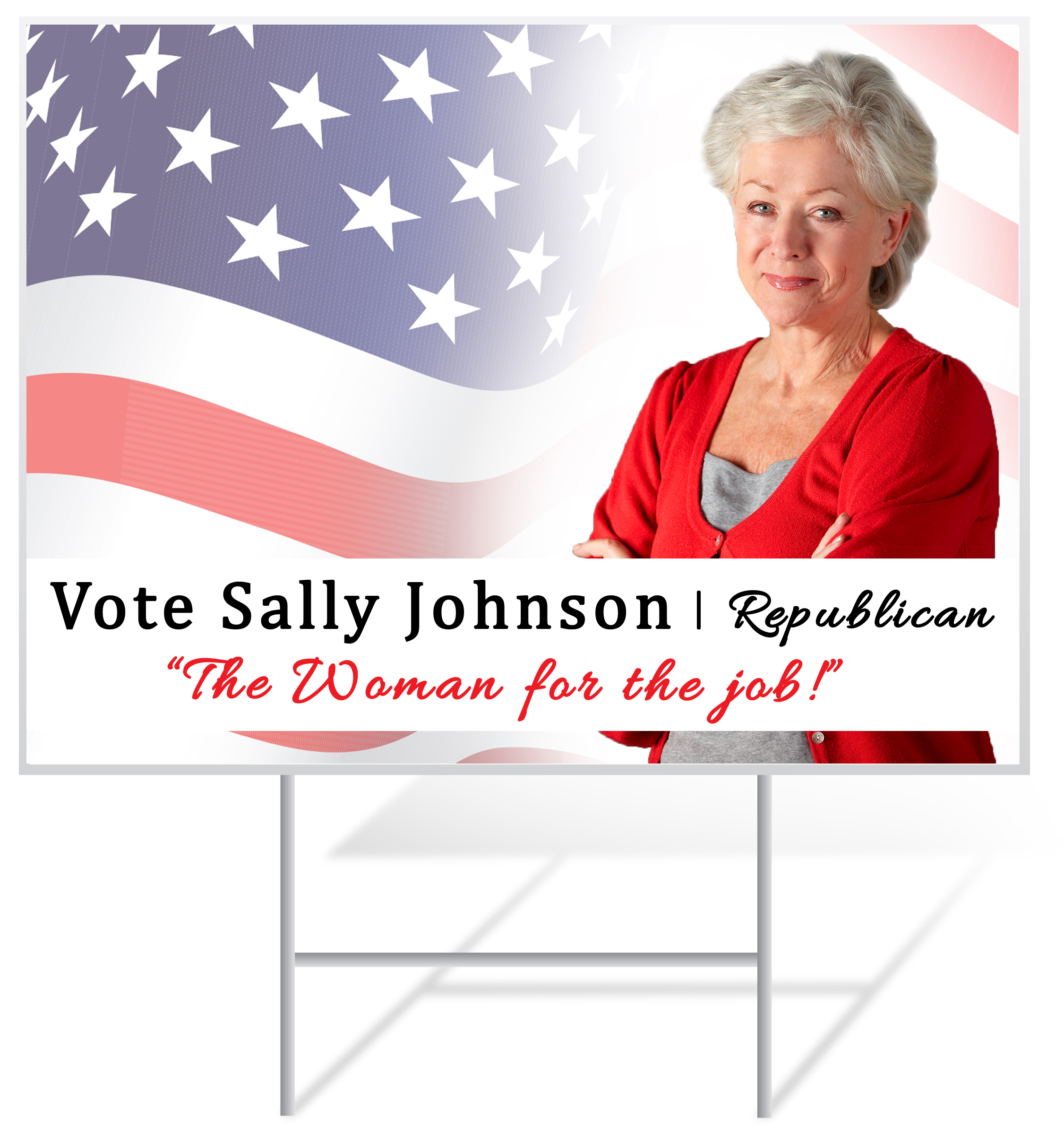Republican Lawn Sign Example | LawnSigns.com