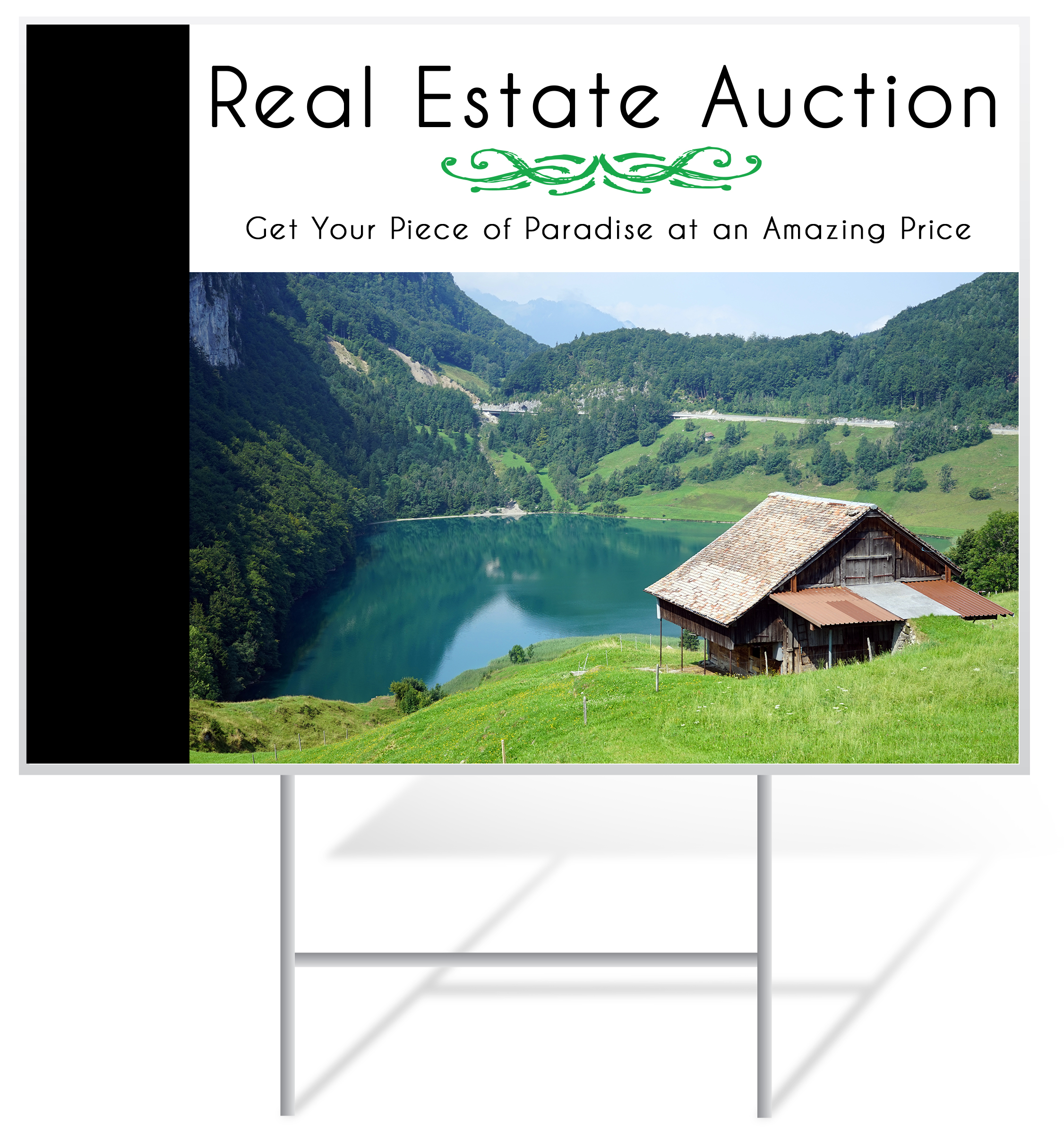 Auction Lawn Sign Example | LawnSigns.com