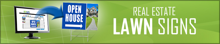 Real Estate Lawn Signs from LawnSigns.com