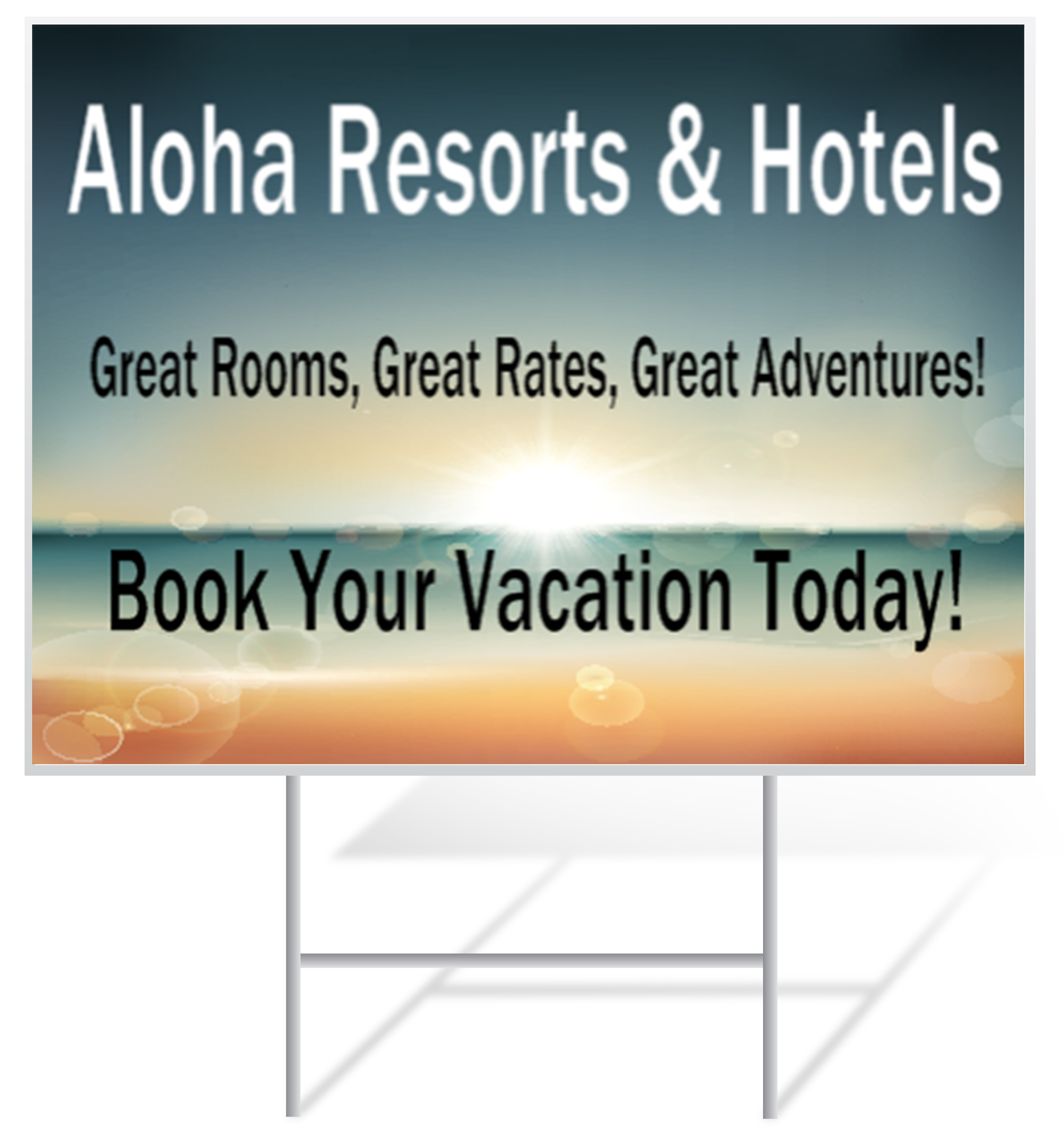 Resort Lawn Sign Example | LawnSigns.com