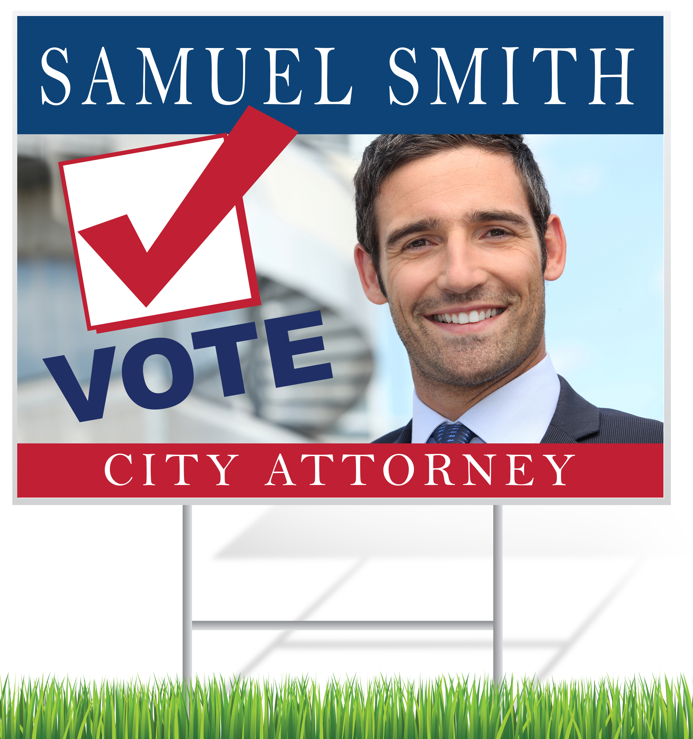 Election Lawn Sign Example | LawnSigns.com
