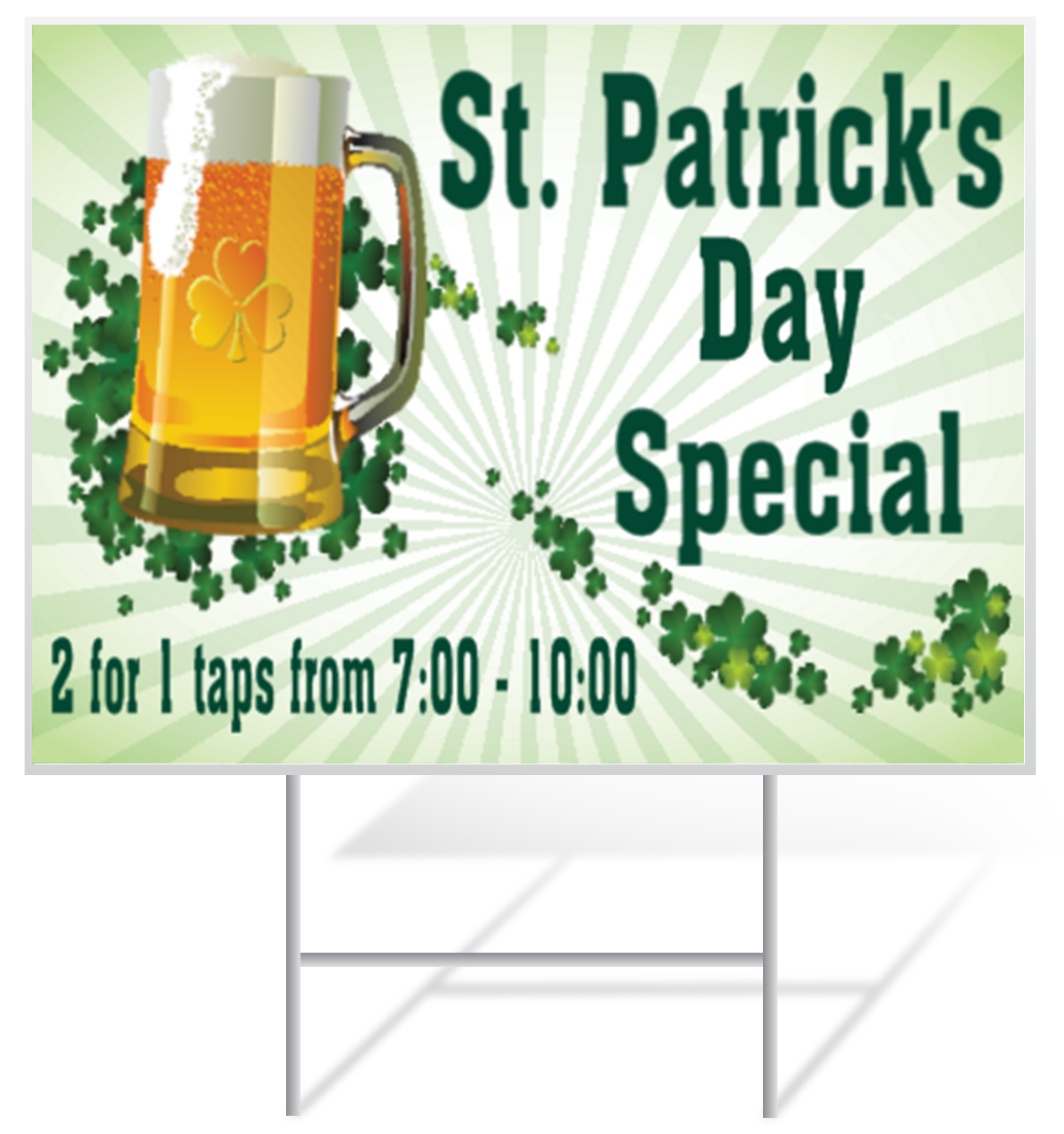 St. Patrick's Day Lawn Sign Example | LawnSigns.com
