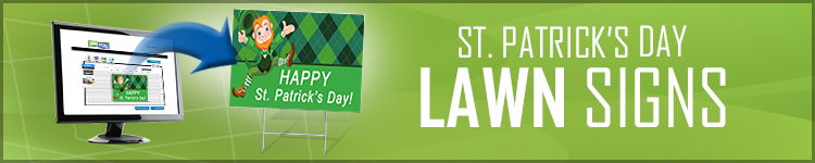 St. Patrick's Day Lawn Signs | LawnSigns.com