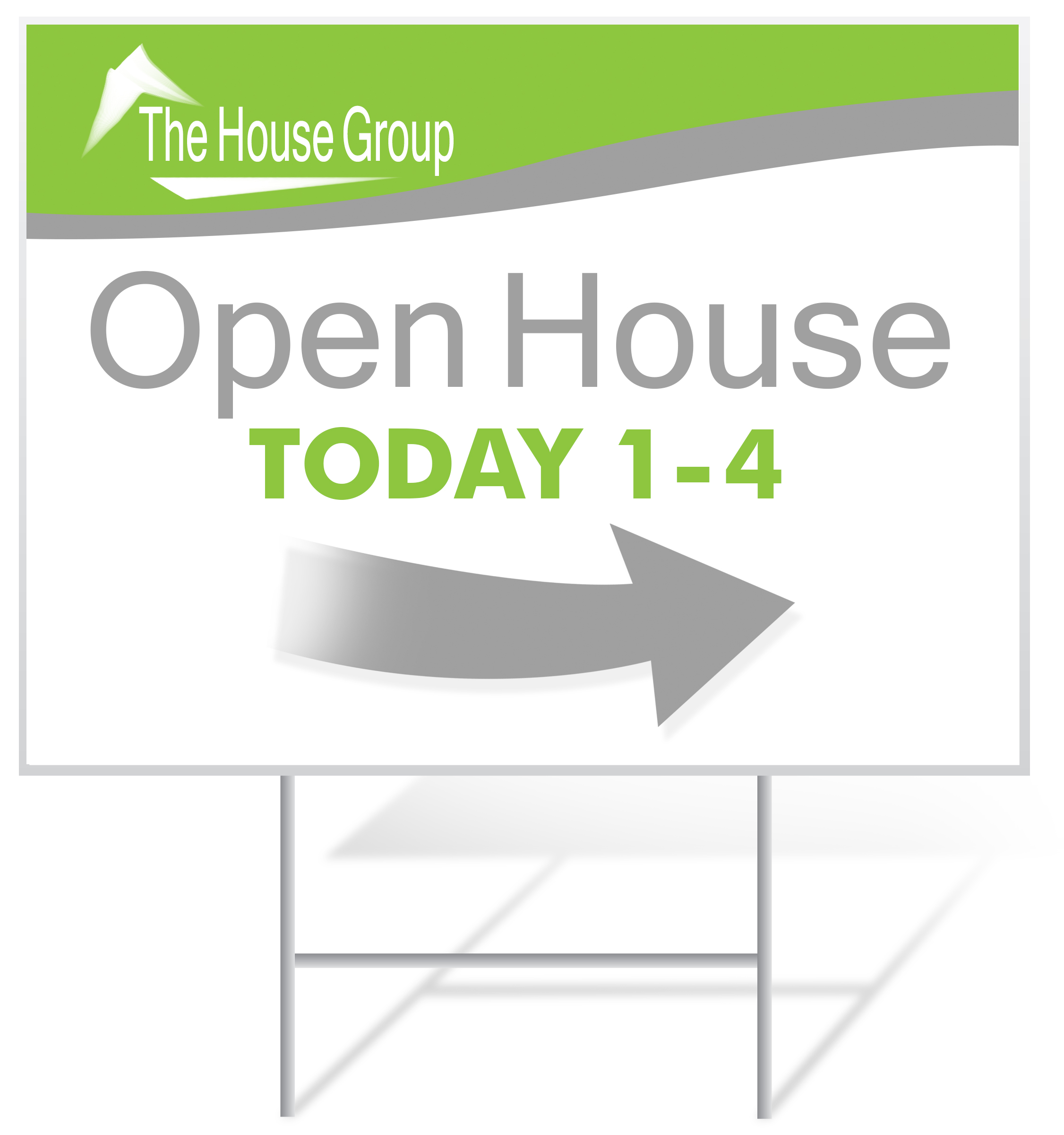 Open House Lawn Sign Example | LawnSigns.com