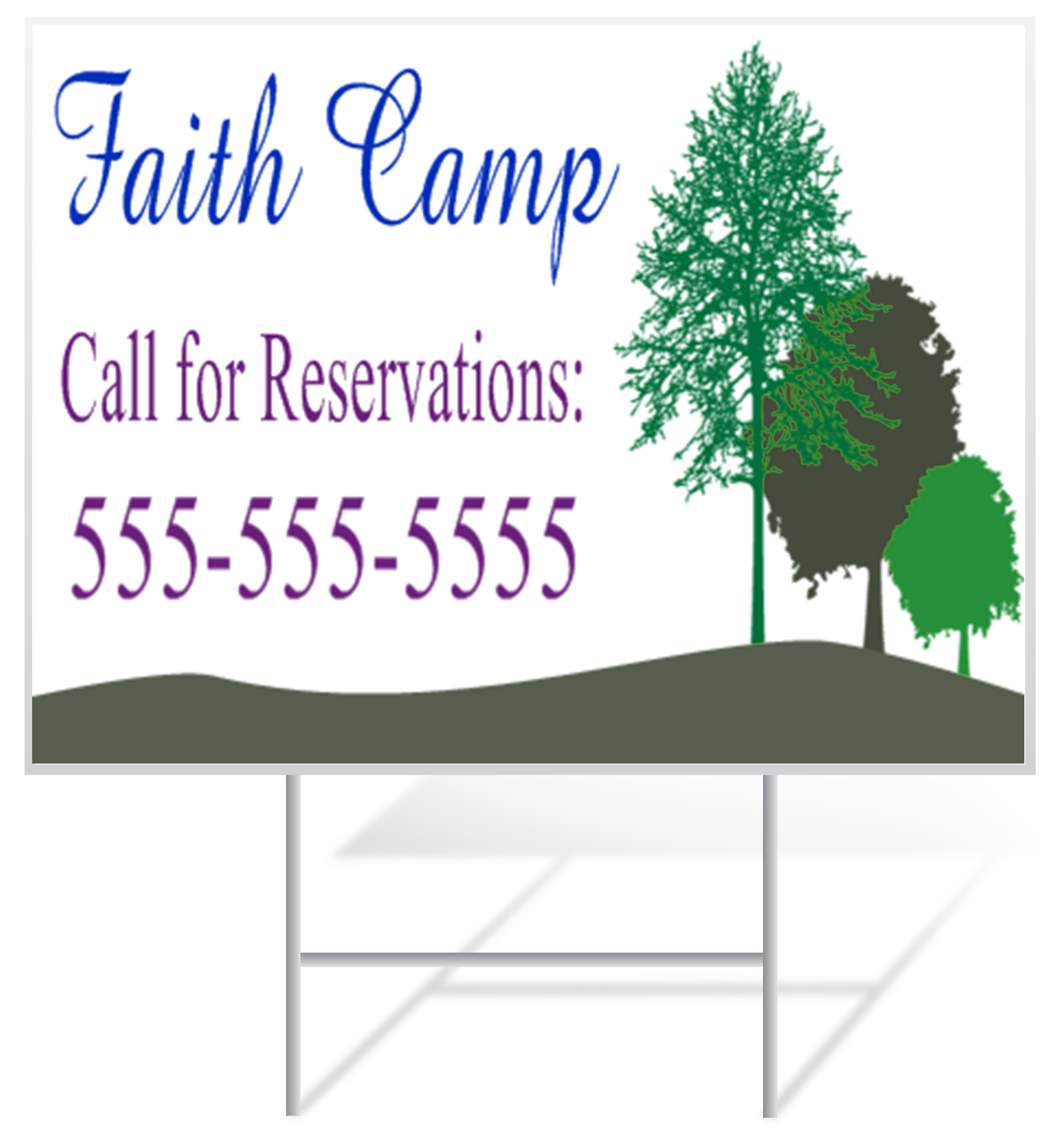 Vacation Bible School Lawn Sign Example | LawnSigns.com