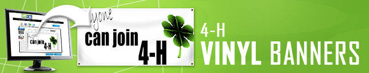 4H  Vinyl Banners | LawnSigns.com