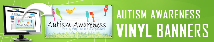 Autism Awareness Vinyl Banners | LawnSigns.com