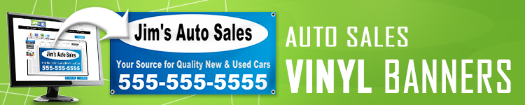 Auto Sales Vinyl Banners | LawnSigns.com