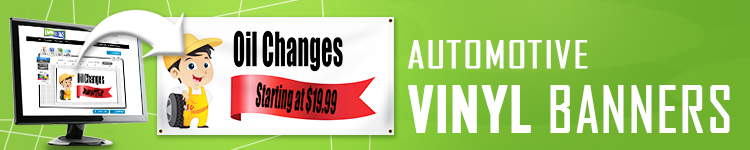 Automotive Vinyl Banners | LawnSigns.com