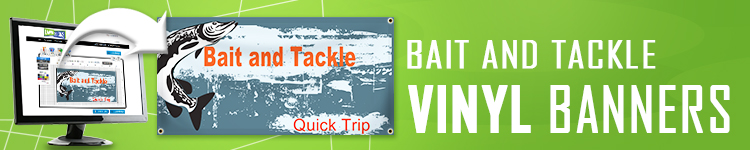 Bait and Tackle Vinyl Banners | LawnSigns.com