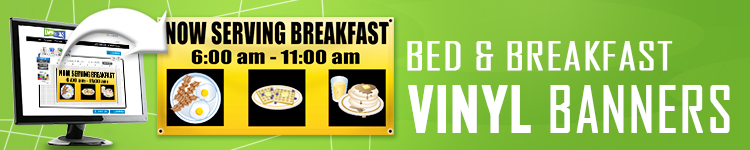 Bed and Breakfast Vinyl Banners | LawnSigns.com