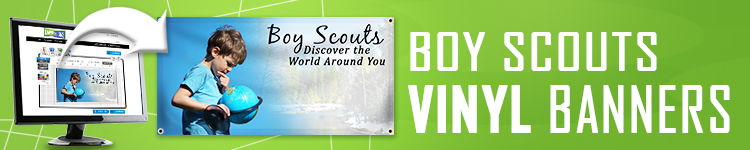 Boy Scout Vinyl Banners | LawnSigns.com