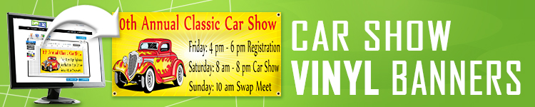 Car Show Vinyl Banners | LawnSigns.com