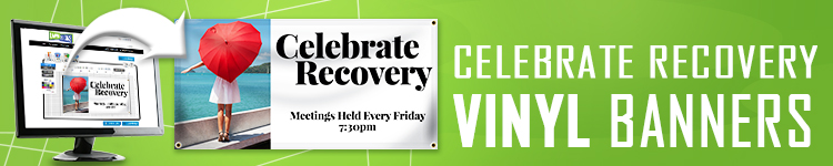 Celebrate Recovery Banners | LawnSigns.com
