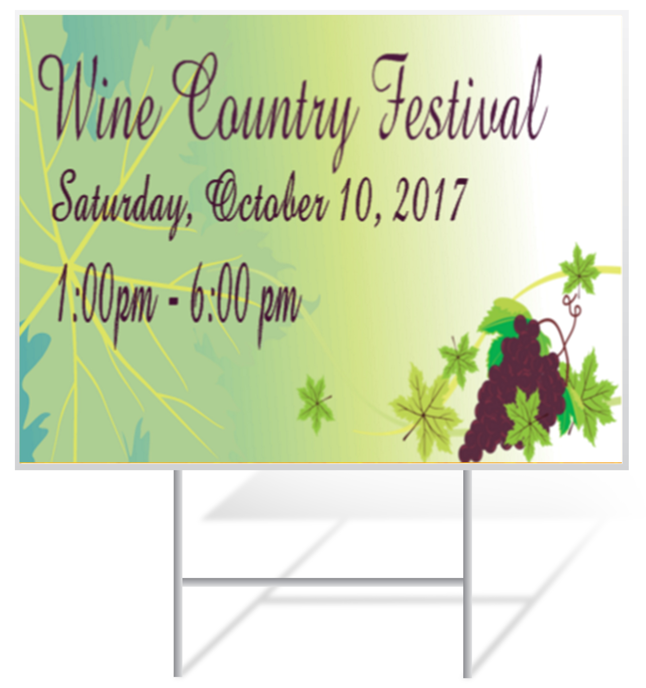 Festival Lawn Sign Example | LawnSigns.com