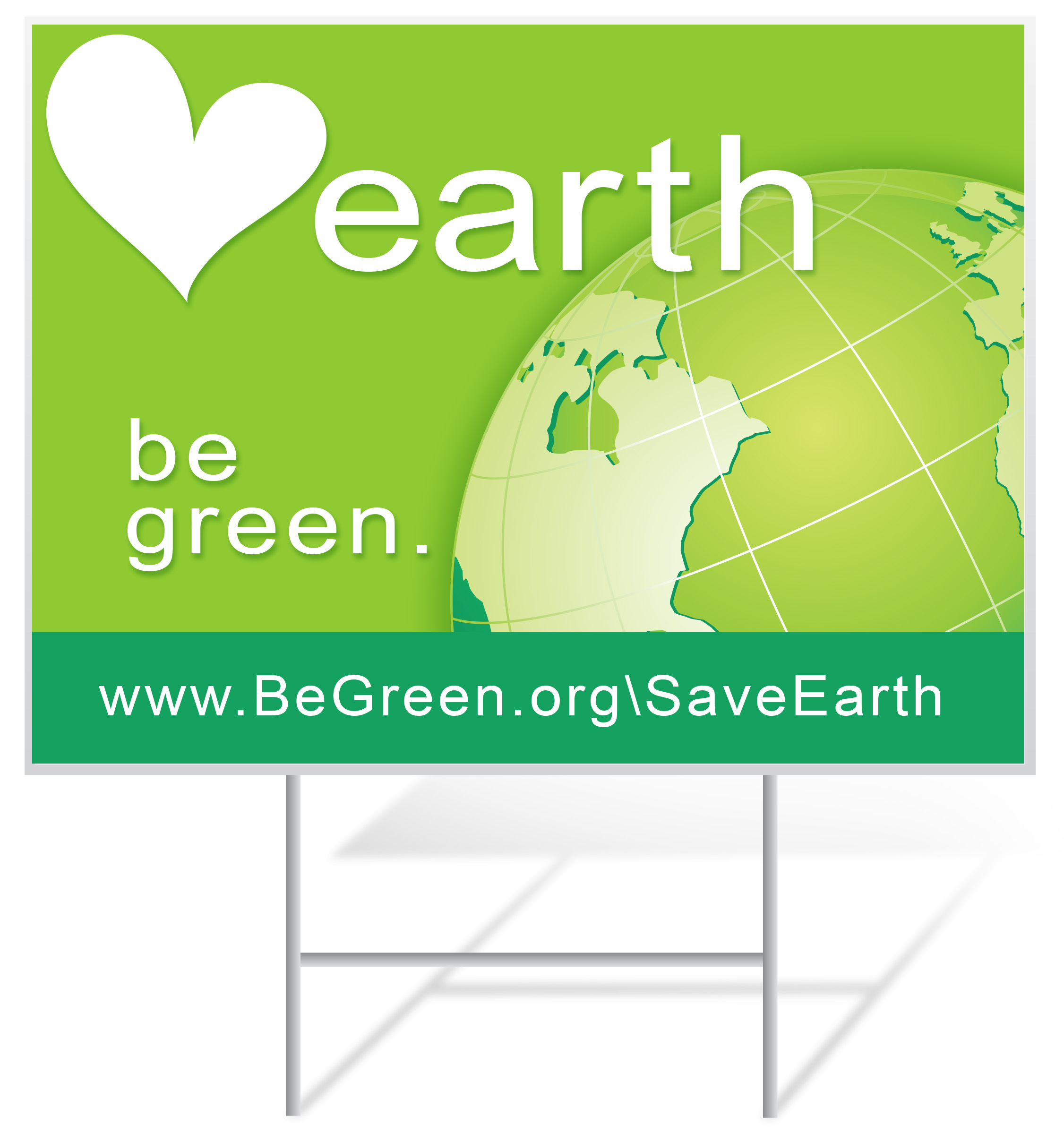 Earth Day Lawn Sign Example | LawnSigns.com
