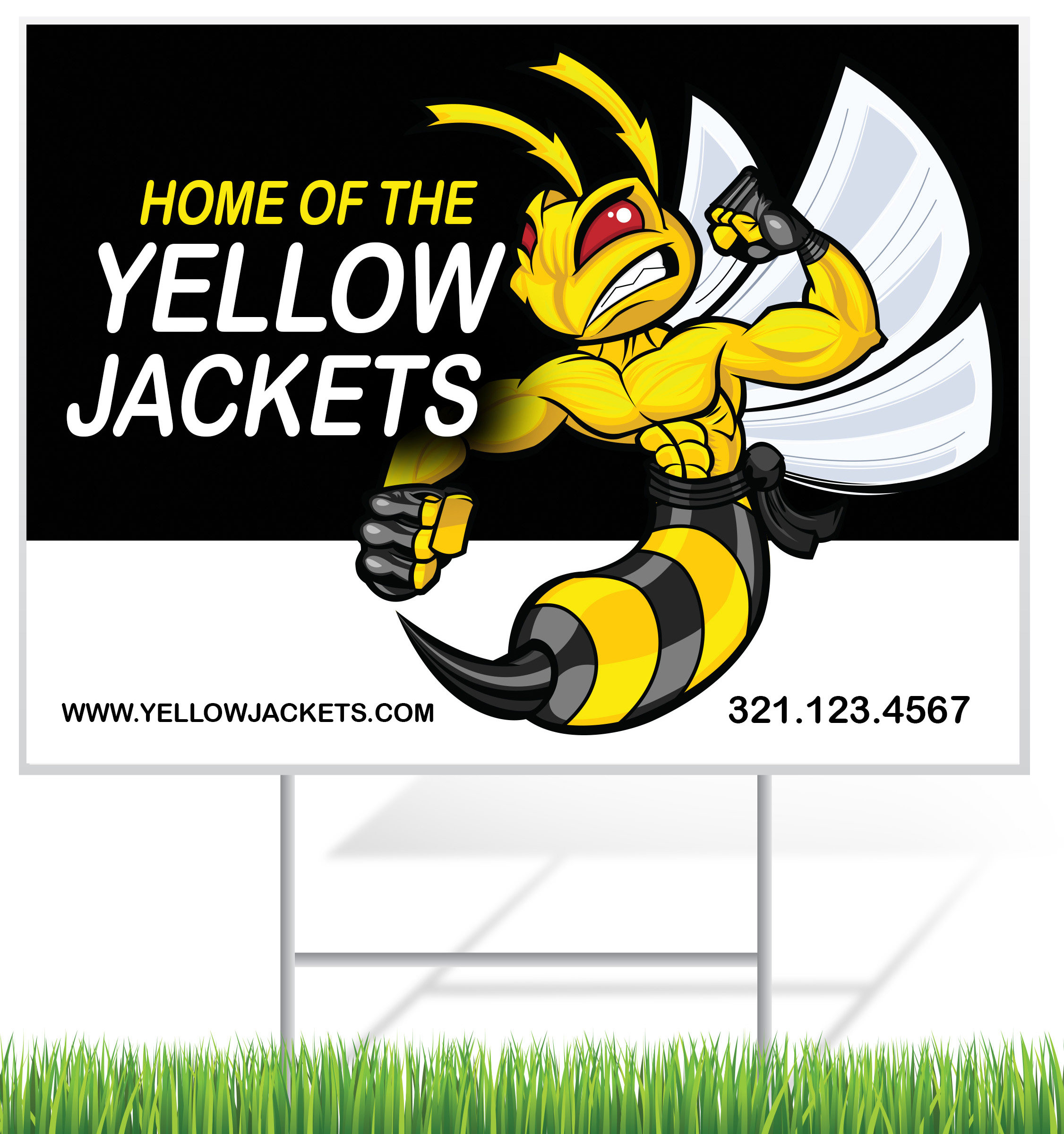 Sports Lawn Sign Example | LawnSigns.com